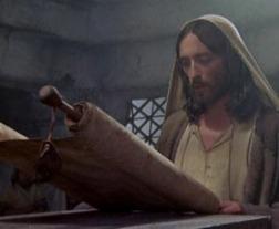 Jesus leyendo en la sinagoga