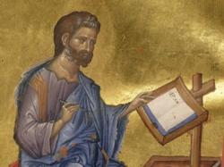 San Clemente (siglo I) escribiendo a los corintios