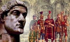 Constantino y legionarios