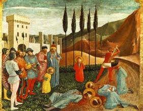 Martirio de los santos Cosme y Damián