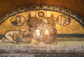 Cristo y el emperador León el Sabio