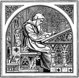 Monjes copistas medievales