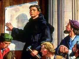 Lutero clava sus 95 tesis en la puerta de una iglesia: se inicia la Ruptura Protestante