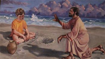 San Agustín y el niño de la playa