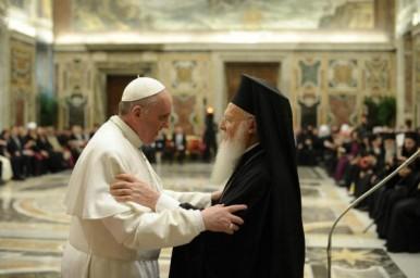 El papa Francisco y el Patriarca Ecuménico de Constantinopla
