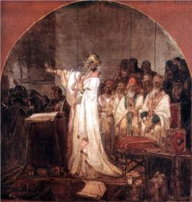 Concilio de Éfeso, pintado por Vasily Surikov