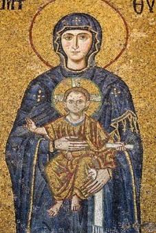 María, mosaico de Santa Sofía, Constantinopla