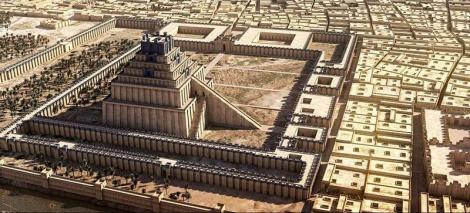 Babilonia y la Torre de Babel con sus 7 niveles