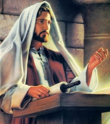 Jesús predicando en la sinagoga