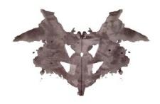Una de las láminas del test de Rorschach