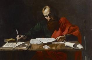 San Pablo escribiendo