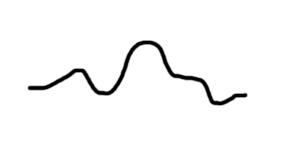 1 - línea negra ondulante