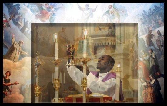 rodeados de ángeles y santos...