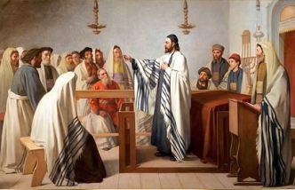 Pablo predicando en la sinagoga de Antioquía
