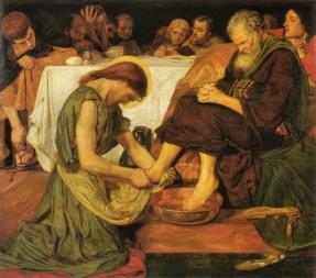 Jesús lava los pies a Pedro
