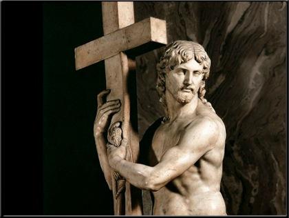 Jesús abrazado a la cruz
