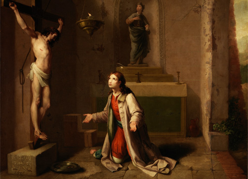 San Francisco orando ante el Cristo de San Damián